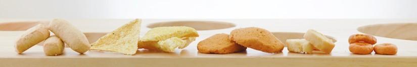 La selezione di snack del Negozio Leggero per l'aperitivo