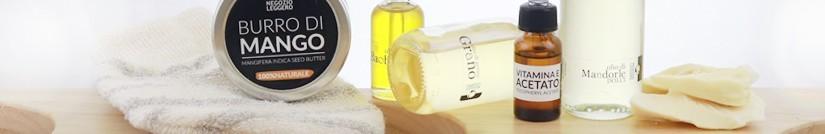La sélection de produits pour les cosmétiques DIY de Negozio Leggero